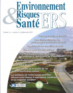 Manusset Sandrine, Les espaces verts : un nouvel outil des politiques de santé publique ? Environ Risque Sante 2015 ; 14 : 313-320. doi : 10.1684/ers.2015.0795
